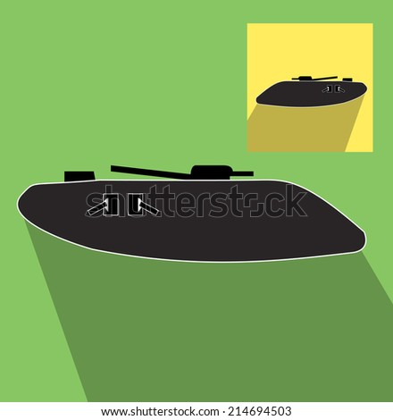 World war I military tank icon  - stock vector