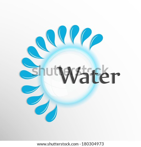 World Water Day sticker, tag or label design with stylish text water and splash on grey background.  - stock vector