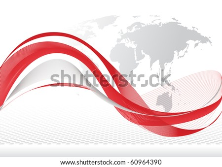 World Wave - stock vector
