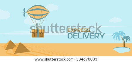 World wide delivery - stock vector