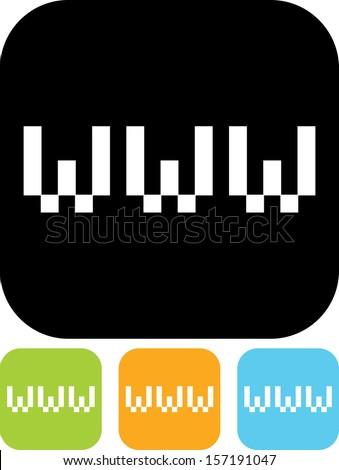World Wide Web vector icon  - stock vector