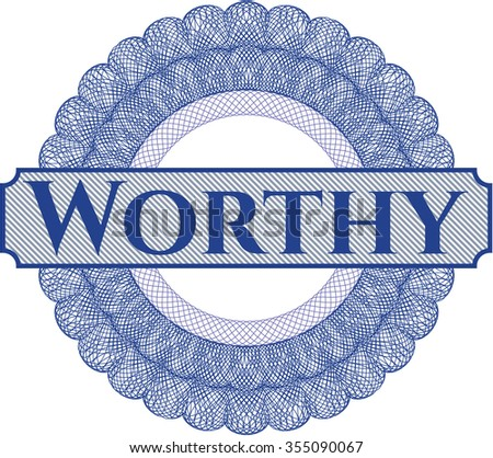 Worthy money style rosette - stock vector