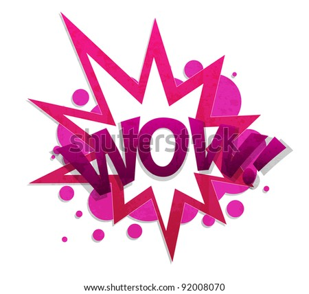 wow - stock vector