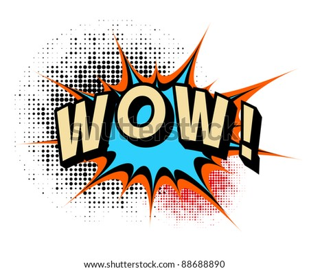 Wow. Comic book explosion. - stock vector