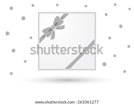 wrapped gift or gift card with ribbon on white background - stock vector