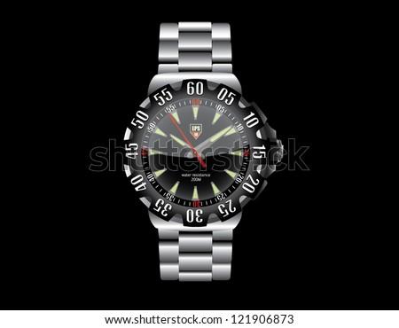 Wrist Watch - stock vector