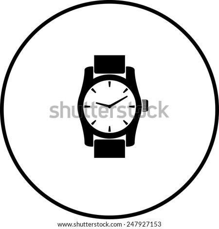 wrist watch symbol - stock vector
