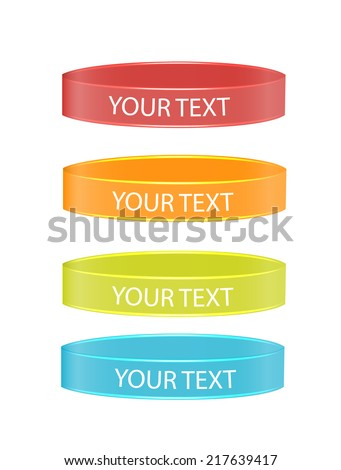 Wristbands set isolated on white background, vector illustration - stock vector