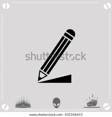 Write a note icon. Write a note vector. Gray background. - stock vector