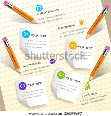Write to report business abstract infographic. - stock vector