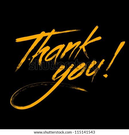 "Writing ""Thank you"" - stock vector"