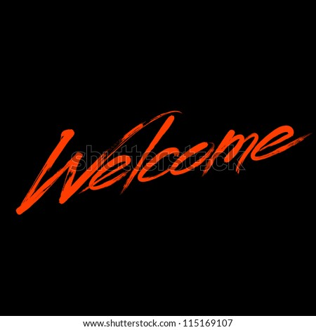 "Writing ""Welcome"" - stock vector"
