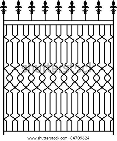 Wrought Iron Gate, Door, Fence, Window, Grill, Railing design - stock ...