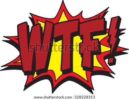 wtf comic - stock vector
