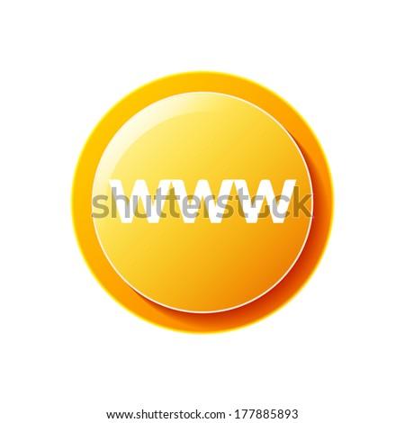 WWW Icon - stock vector