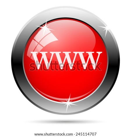 WWW icon. Internet button on white background.  - stock vector