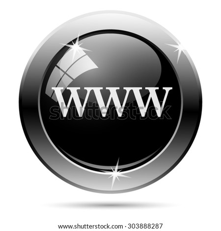 WWW icon. Internet button on white background. EPS10 vector  - stock vector