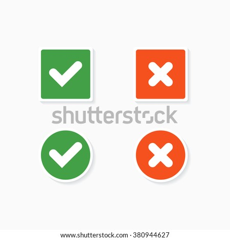 Stock Images similar t...X And Check Icon