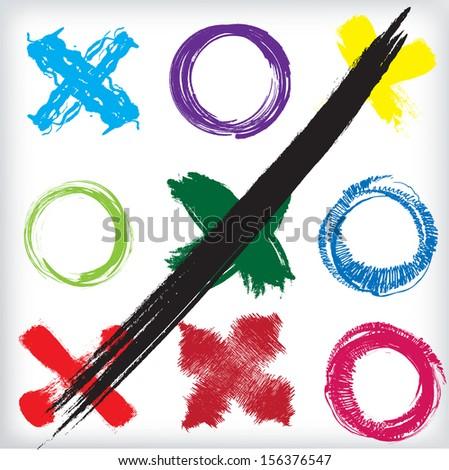 x - o game. vector illustration - stock vector