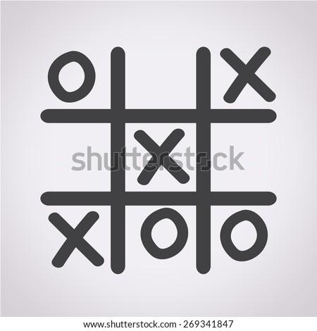 x o icon  - stock vector