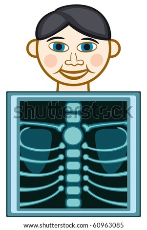 X-ray icon on white background - stock vector