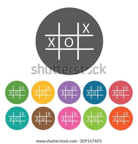 XO board icons set. Vector Illustration eps10 - stock vector