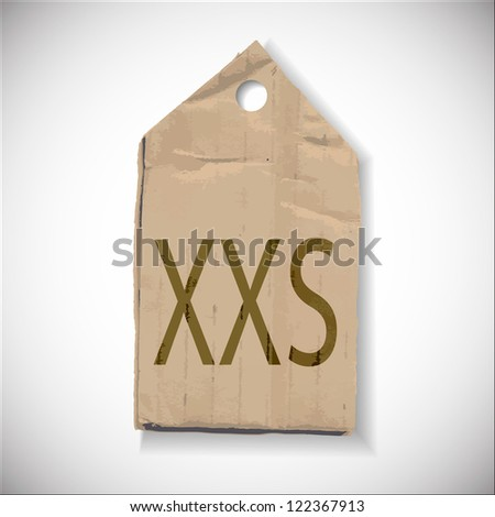 XXS Size label isolated on white - stock vector