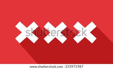 XXX icon  - stock vector