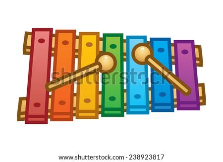 Xylophone illustration - stock vector