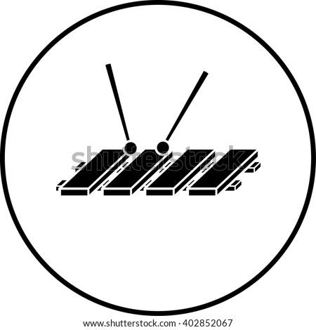 xylophone symbol - stock vector