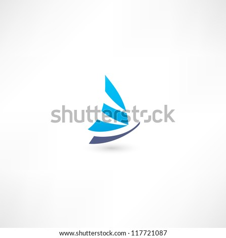 Yacht Icon - stock vector