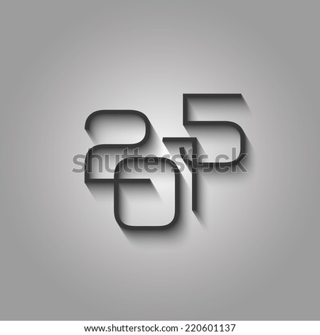 Year 2015 background - clear design for sample text  - stock vector