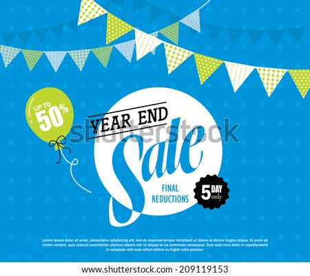 Year End Sale - stock vector