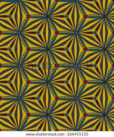 yellow blue pattern - stock vector