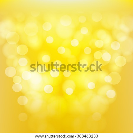 yellow blurred abstract background. vector - stock vector