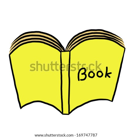 yellow book / cartoon vector and illustration, isolated on white background. - stock vector