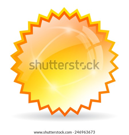 Yellow bursting star - stock vector