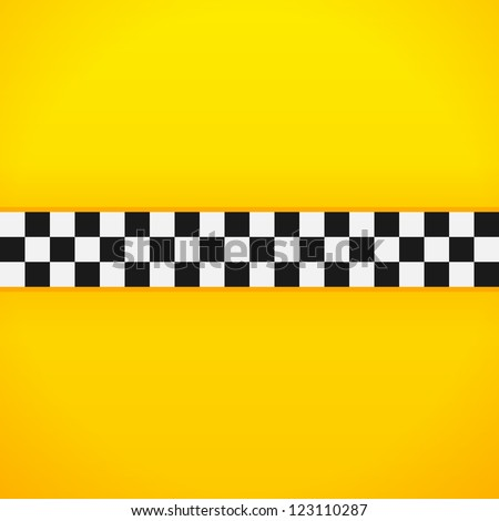 Yellow Checkerboard Pattern - Taxi black and white checks for New York cab - stock vector