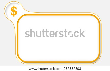 yellow frame for your text and dollar symbol - stock vector