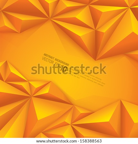 Yellow geometrical background. polygonal background for card design, page design, leaflet, brochure, flyer or magazine page design. - stock vector