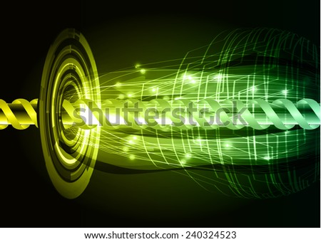 yellow green color abstract technology background for for computer graphic website internet and business - stock vector