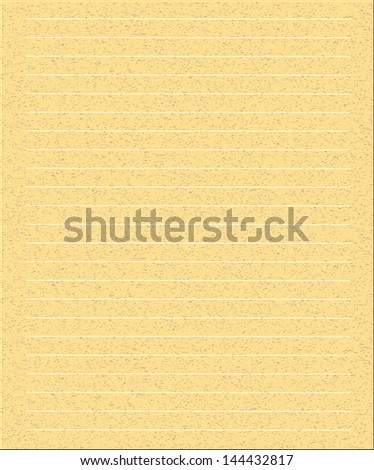 Yellow Note Paper illustration - stock vector