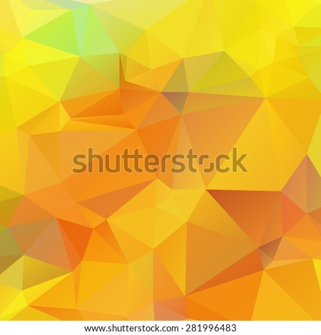 Yellow orange and Green color like season change autumn abstract geometric rumpled triangular low poly style vector illustration graphic background - stock vector