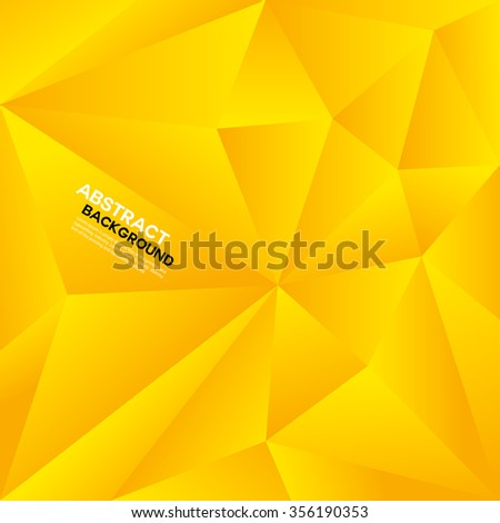 yellow polygon background,Abstract geometrical background,Vector illustration, Creative Design Templates,cover design, banners background,vector background,wallpaper,polygon vector,web wallpaper - stock vector