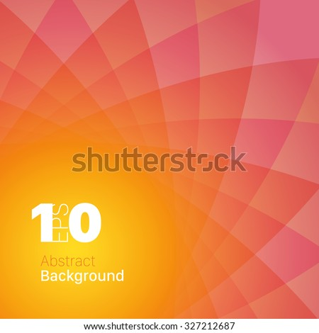 Yellow/Red Abstract Background - stock vector