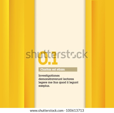 Yellow Retro Abstract Design - Fully editable / suitable for infographics / numbered banners / yellow design template - stock vector