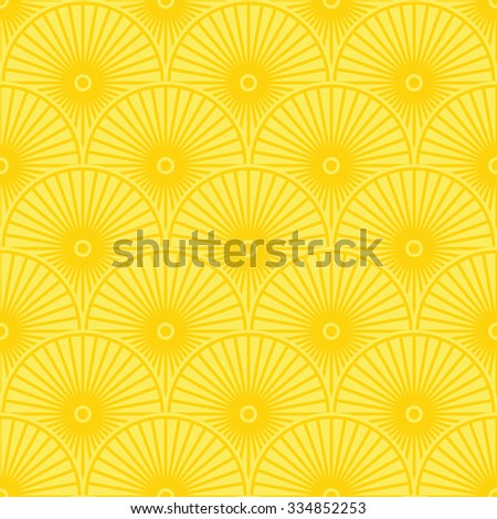 Yellow stylized floral pattern. Vector illustration - stock vector