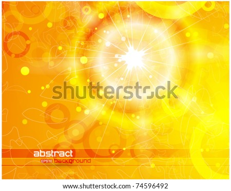 Yellow summer background - stock vector