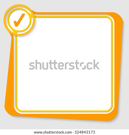 Yellow text box for your text with check box - stock vector