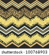 yellow zigzag pattern - stock vector